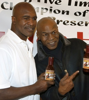 Tyson and Holyfield make surprise appearance together