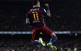 Neymar hits four in Barca rout, Ronaldo takes Madrid top