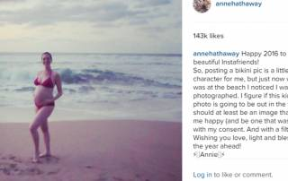 'Princess Diaries' actress Anne Hathaway shows off her baby bump