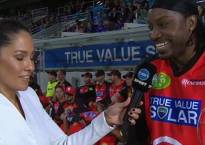 Watch Video: Chris Gayle flirts with female reporte on live TV; gets fined Rs. 4,55,000