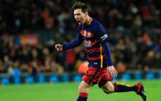 Messi double eases Barca past nine-man Espanyol