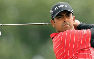 Anirban Lahiri struggles on the greens
