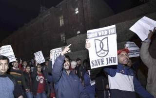 JNU Teachers join students strike, to take 'Nationalism' classes