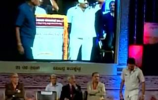 'Packet' hurled on stage shared by CM, Union Min, ex-CJI
