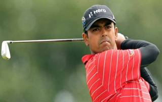 Lahiri rises to seventh on a breezy day at World Golf Champs