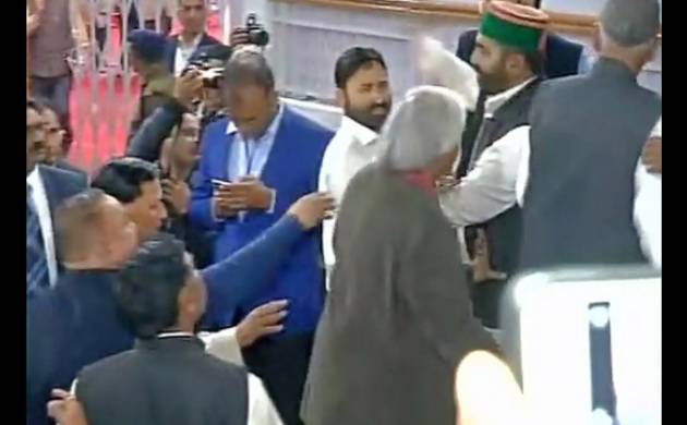 MLAs scuffling with each other inside Assembly.