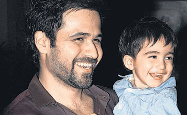 Emraan Hashmi with his son