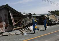 Some sleep in cars after 2 nights of quakes kill 41 in Japan