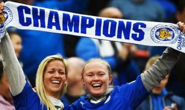 Partying, training, then more celebrating for Leicester team