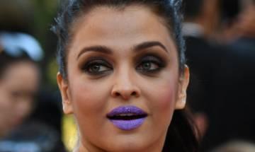 Aishwarya Rai Bachchan's purple lips trolled on Twitter
