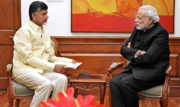 N Chandrababu Naidu meets PM Narendra Modi, seeks special status for Andhra Pradesh