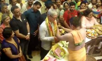 Tim Cook in India: Apple CEO visits Siddhivinayak Temple in Mumbai