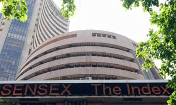 Sensex slumps 210 points on profit-booking, weak global cues