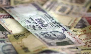 Rupee ends at over 2-1/2 month low, down 8 paise to 67.44