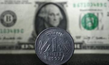 Rupee slips from 1-week high, down 13 paise to 67.16