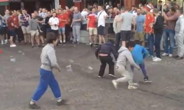 Watch: British soccer fans mock 'begging kids' in Lille