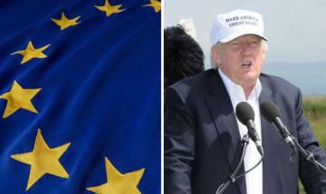 Protesters storm Donald Trump golf course in Scotland