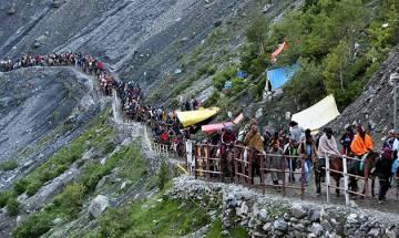 Over 13,000 pilgrims pay obeisance at Amarnath cave shrine
