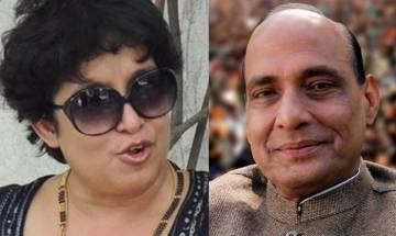 Tasleema Nasreen requests Rajnath to grant extension of her RP