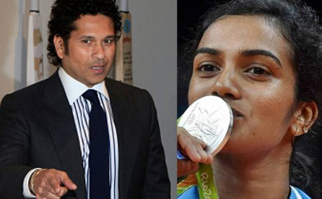 Sachin Tendular and PV Sindhu