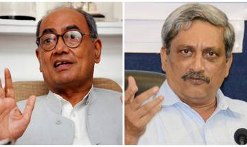 Digvijay Singh criticises Parrikar for his Pak remark, asks why didn't he stop Modi, Advani