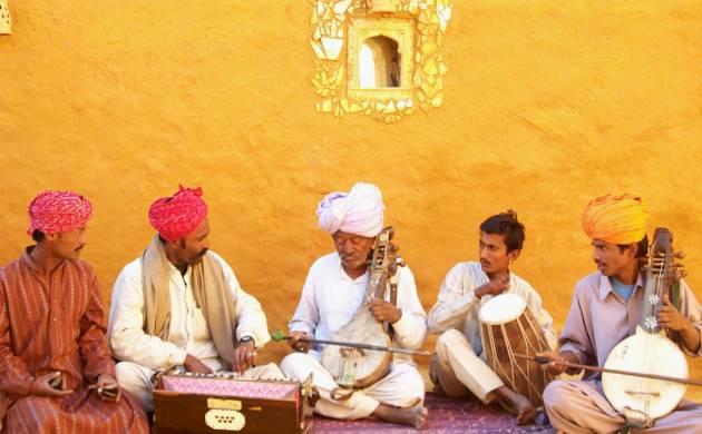 Rajasthani folk music show