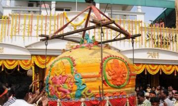 Two huge laddus for 10-day Ganesh Chaturthi celebrations