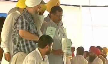 AAP cheif Arvind Kejriwal slams SAD-BJP, launches AAP's manifesto for farmers