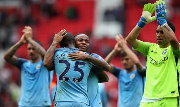 Pep Guardiola claims first derby win as City beat United 2-1