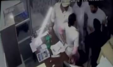 Caught on camera: 'Akali Dal' leaders thrash five-month pregnant nurse in Moga