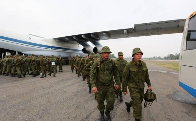 Russian troops land in Pakistan (Image: Twitter/@AsimBajwaISPR)
