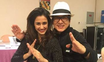 Disha Patni in awe of Jackie Chan, teaches him dance steps