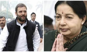 Congress VP Rahul Gandhi visits Tamil Nadu CM Jayalalitha at hospital, says she is 'improving'