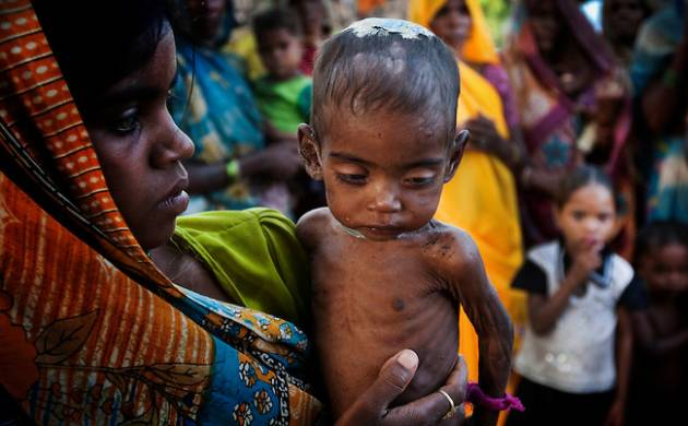 India gets marked at 97 out of 118 countries in Global hunger Index