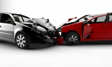 Car splits into two after drunk driver hit another car; everyone survives