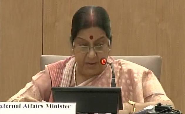 External Affairs Minister Sushma Swaraj (Image: Twitter/ANI)