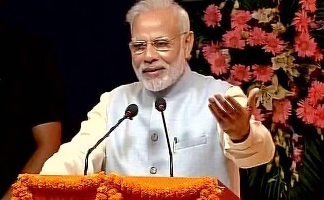 Prime Minister Narendra Modi speaks at the inauguration ceremony of the digital exhibition of Sardar Vallabhbhai Patel. (ANI)