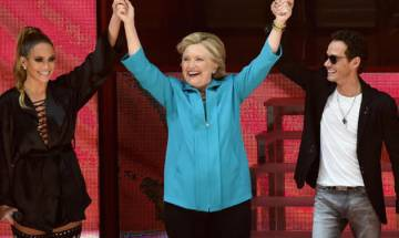 Lopez, Anthony team up for concert to support Hillary Clinton