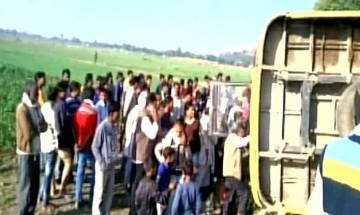 School bus overturns in Madhya Pradesh, 17 children injured