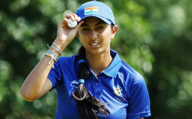 A file photo of India's teenage Gold star Aditi Ashok