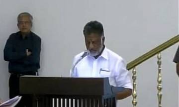 O Panneerselvam sworn in as Tamil Nadu CM after J Jayalalithaa's death