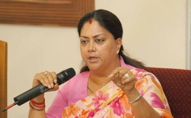 A file photo of Rajasthan Chief Minister Vasundhra Raje Scindia