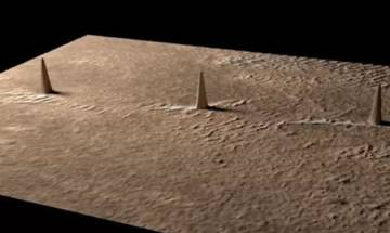 Watch Video | Aliens exist on Mars? 'Three towers' arranged in perfect straight line found on the red planet by UFO hunters