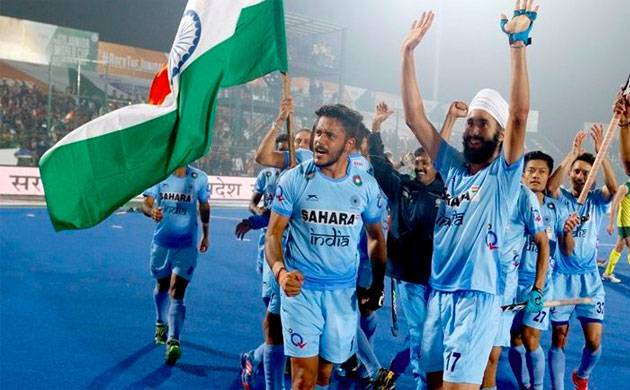 Indian team celebrates after defeating Belgium 2-1 in Junior Hockey World Cup final (Image: Twitter)