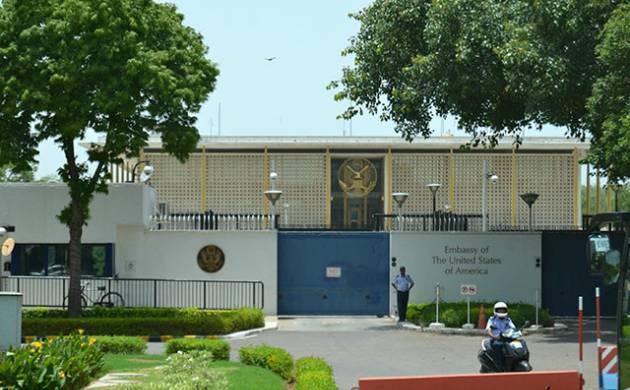 A file photo of American Embassy in New Delhi