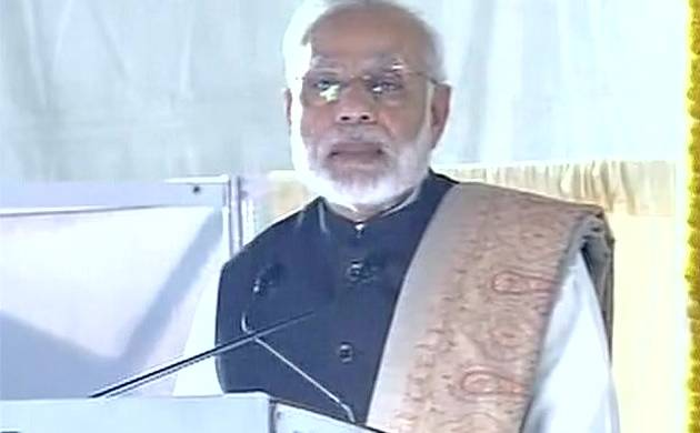 PM Narendra Modi in Varanasi ahead of Uttar Pradesh polls (Pic: ANI)