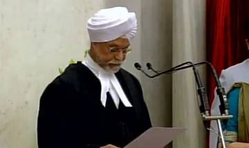 Justice Jagdish Singh Khehar takes oath as 44th Chief Justice of India