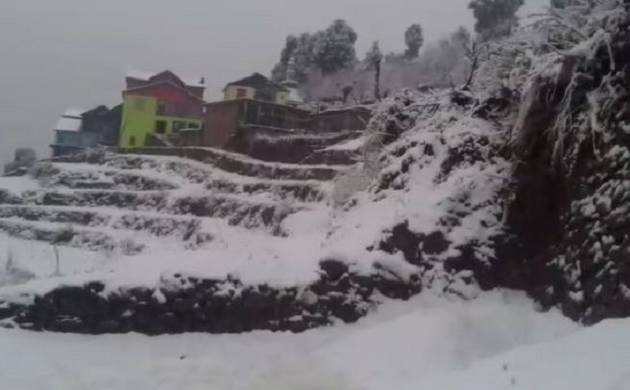 Snowfall in different parts of Jammu and Kashmir's Doda district