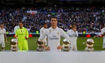 Cristiano Ronaldo celebrates as Real Madrid equals Barcelona record unbeaten run