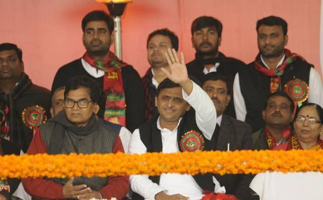 File pics : Uttar Pradesh Chief Minister Akhilesh Yadav in a rally